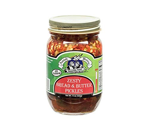 Amish Wedding Zesty Bread & Butter Pickles 15 Ounces (Pack of 2)