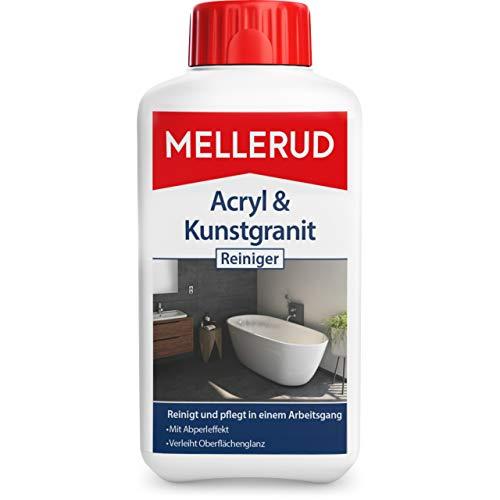 Mellerud Acryl & Kunstgranit Reiniger – Reinigungsmittel zum Entfernen von Ablagerungen auf Acryl-, Kunstgranit- und Anderen Oberflächen – 1 x 0,5 l