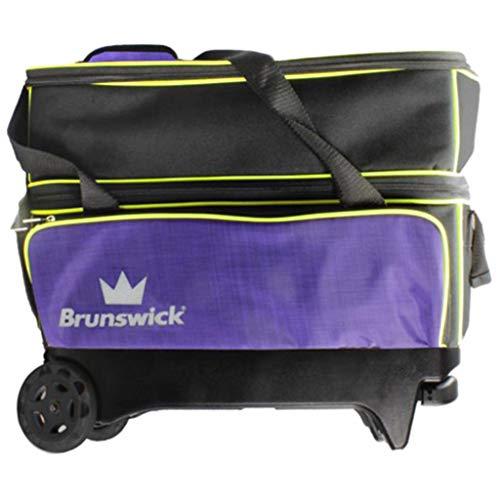 Brunswick Bowlingtasche Crown Double Roller Violett/Gelb