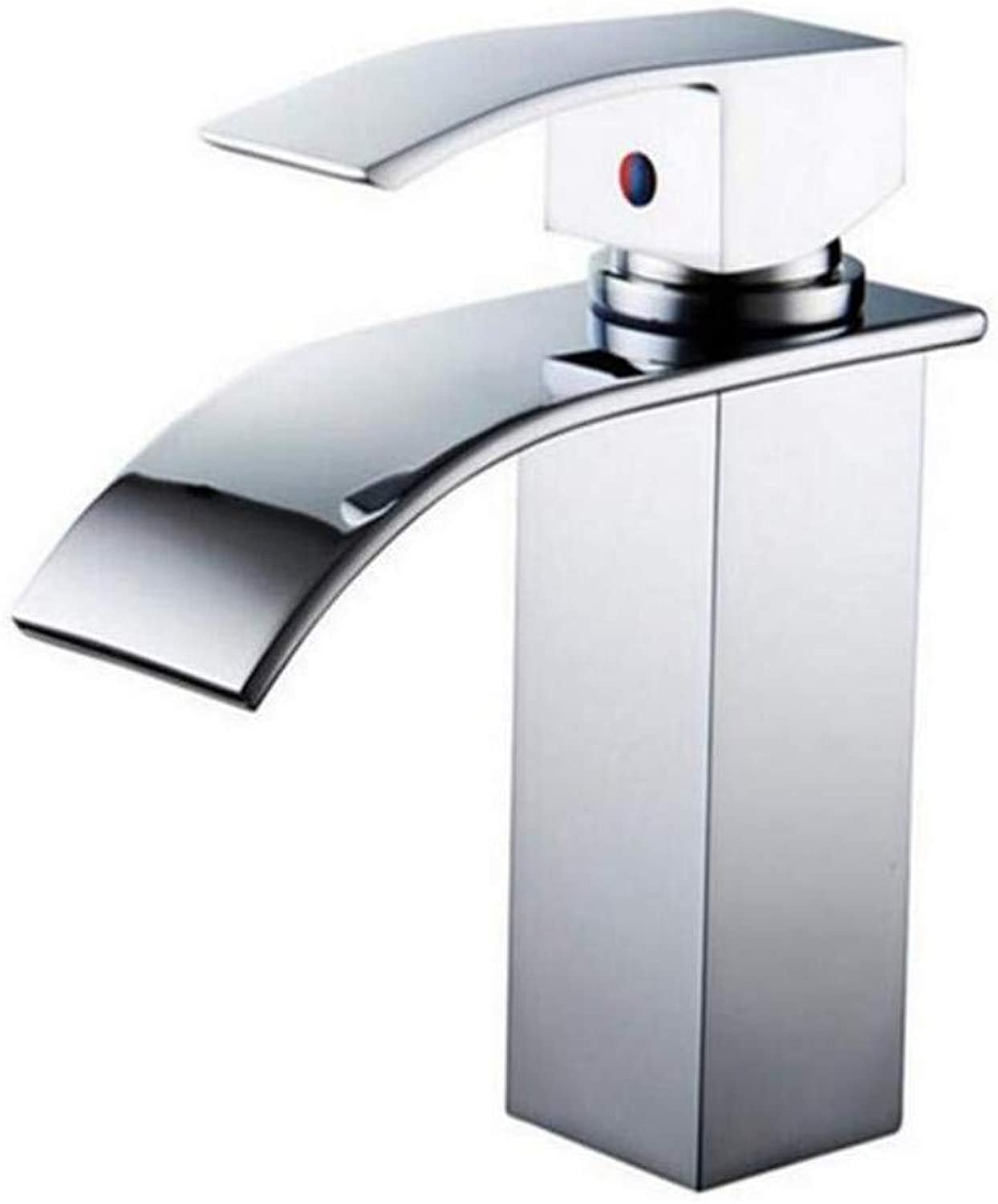 Modern Double Basin Sink Hot and Cold Water Faucetbathroom Taps Widespread Basin Faucets