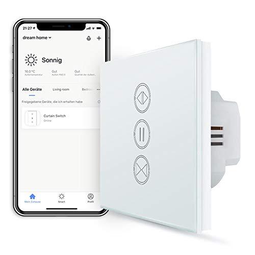 [NEW Generation] LoraTap WIFI Smart Rollladen Jalousie Zeitschaltuhr Schalter Rolladenzeitschaltuhr Timer für Rolladenmotor Kompatibel mit Google Home