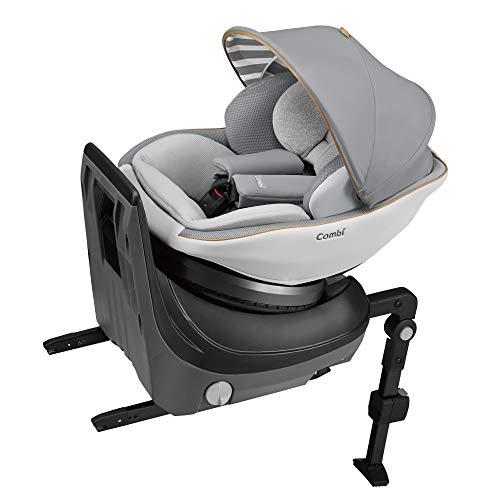 Combi(コンビ) ISOFIX固定 チャイルドシート 新生児から4歳頃まで クルムーヴ スマート ISOFIX エッグショック JL-540 グレー 指一本で360°ターン コンパクトで場所を取らない