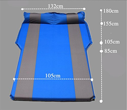 Car Air Bed,SUV Automatic Inflatable Air Mattress Double Bed Portable Thicker Car Bed for Camping Traveling Sleeping,180 132cm,Black ash 3cm