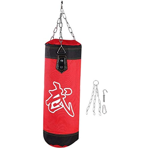 AMY-ZW Boxsack Mit Dem Berg-Kette Leere Boxsack, Hängen MMA-Kampf Karate Fitness Workout Schlags-Sand-Tasche Kicking-Beutel for Erwachsene for Kinder Jungen Mädchen (Size : 80cm)