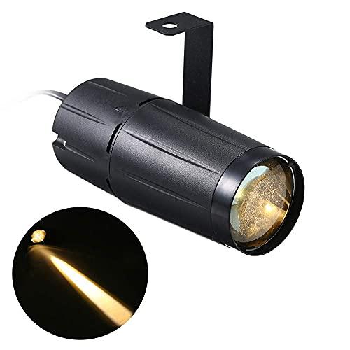 Kansas Lámpara de escenario LED con efecto de luz para discoteca, KTV, bar, club, bar, escenario, lámpara de escenario, CA 90-240 V, 10 W, luz blanca cálida