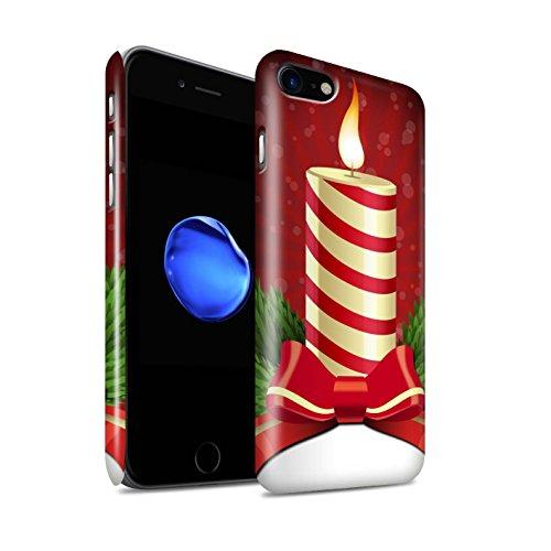Gloss telefoonhoesje voor Apple iPhone SE 2020 kerstversieringen kaars/Advent ontwerp glanzend Ultra slank dun harde snapcover