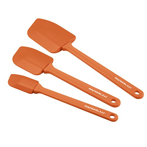 Rachael Ray Tools & Gadgets Lil' Devils 3-Piece Silicone Spatula Set, Orange -