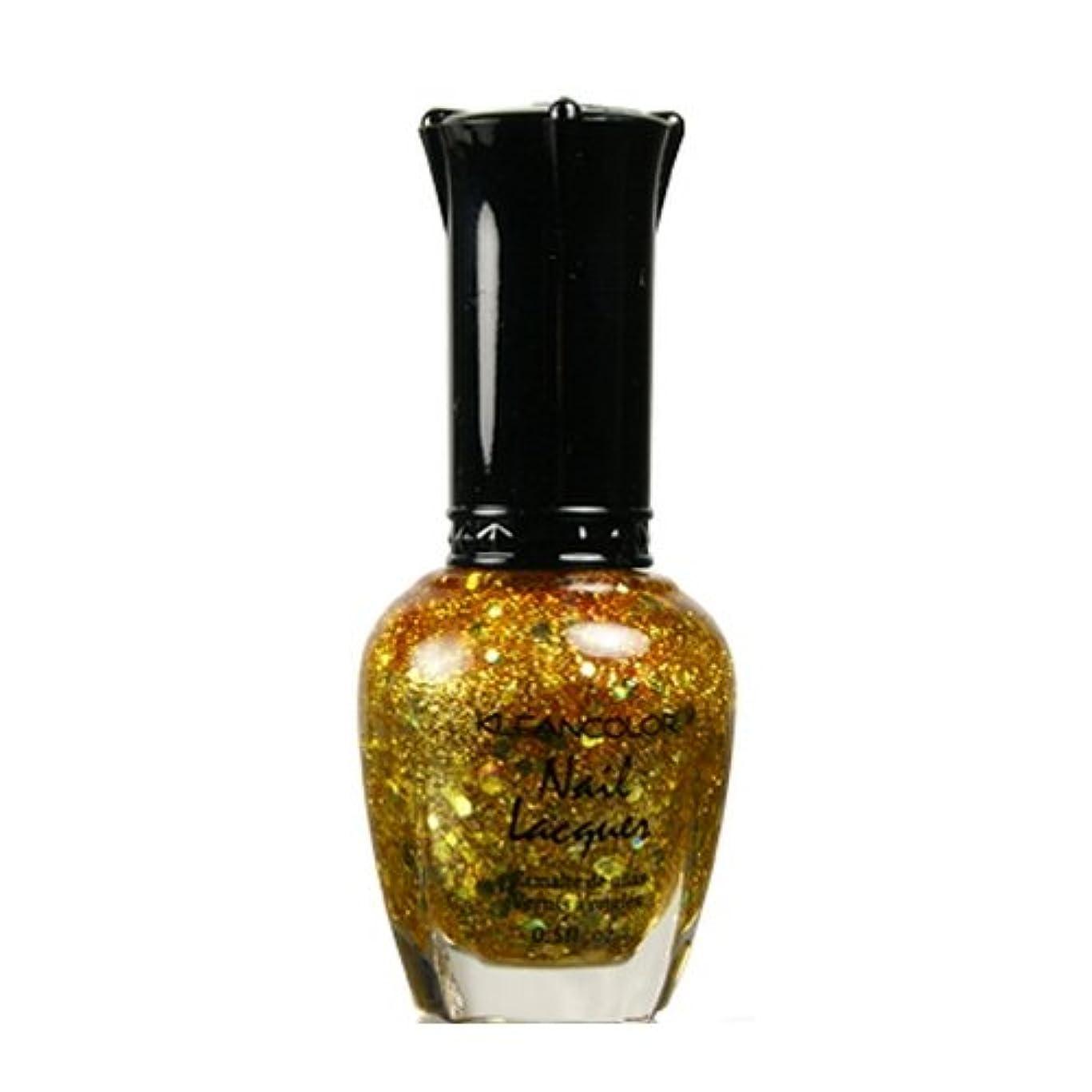 のホスト追放狂う(3 Pack) KLEANCOLOR Nail Lacquer 4 - Gold Caviar (並行輸入品)