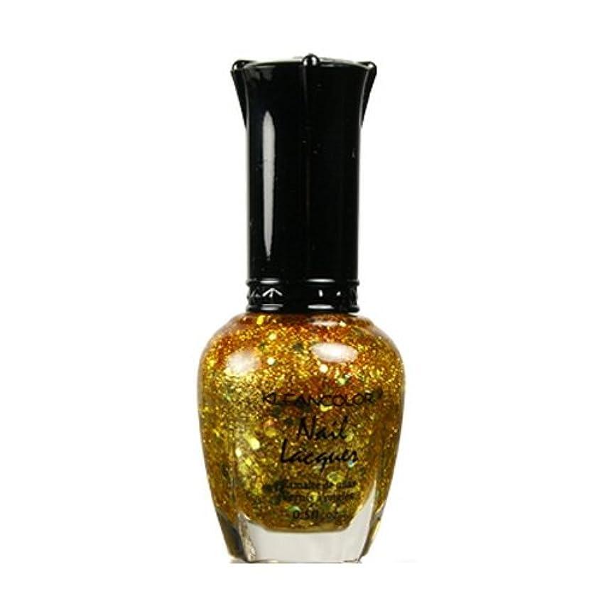成果名義で詳細に(6 Pack) KLEANCOLOR Nail Lacquer 4 - Gold Caviar (並行輸入品)