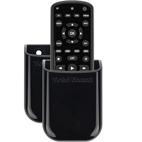TotalMount Universelle Halterung für eine Fernbedienung TV Wandhalterung Tischhalter Aufbewahrungs Kasten für 1 Fernbedienung im Dopplepack