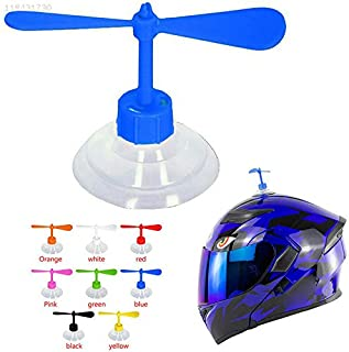 ELECTROPRIME CD1A Black Driving Fashion Motorcycle Helmet Decor Rotating Yellow 11 Grams