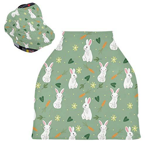 Sinestour Cute Bunny - Fundas para asiento de coche para bebé – Debe tener, toldo multiusos para asiento de coche, para bebé