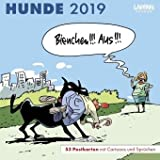 Hunde - Postkarten-Kalender 2019 - Lappan-Verlag - Wandkalender - Wochenkalender mit tierischen Cartoons - 17,5 cm x 17,5 cm