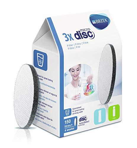 BRITA, Disque Filtrant pour Bouteille, Microdisc - Pack 3