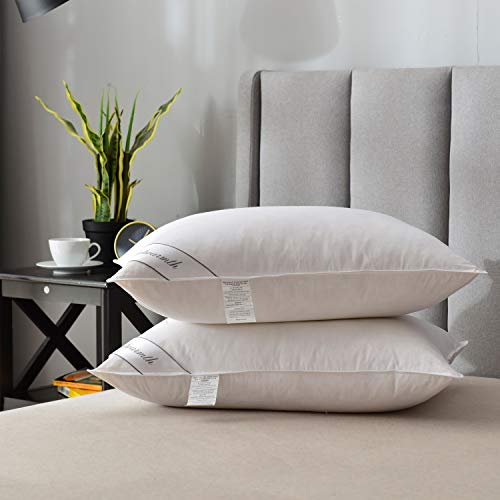 Natural Goose Down Feather Pillows for Sleeping...