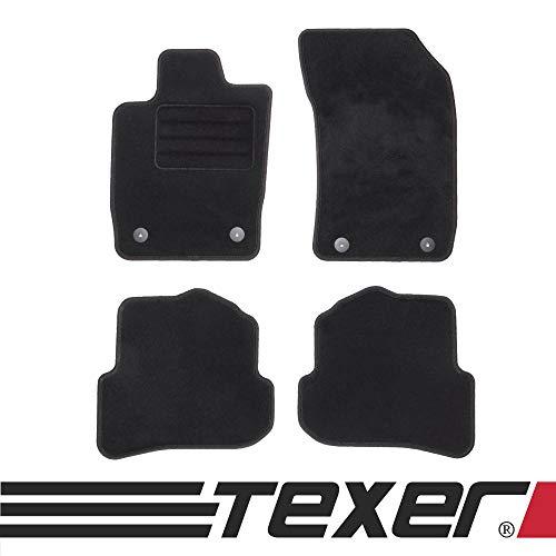 TEXER Textil Fußmatten Passend für Audi A1 8X Bj. 2010-2018 Basic