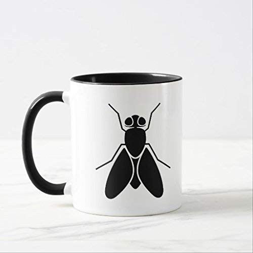 N\A Geschenke für Frauen Neuheit Fruchtfliege Kaffeebecher Geburtstagsgeschenke für Mutter Keramikbecher Tasse 11oz
