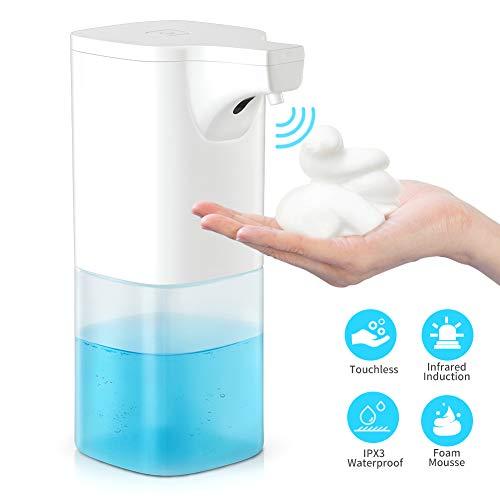 Bammax Automatischer Seifenspender Schaumseifenspender Berührungsloser elektrischer mit intelligentem Infrarot-Sensor, 350 ml, für Badezimmer Küchen, Büro Küche, Hotel, Restaurant, Weiß