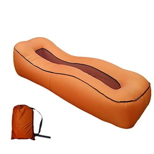 XUE-SHELF Aufblasbare Couch Strand Aufblasbare Lounger Chair für Wasser-Beweis-Anti Air Undichte Idee Sofa Cool Stuff für Haus Hinterhof Lakeside,Braun
