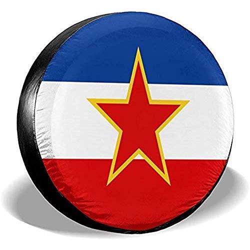 Beth-D Joegoslavië Vlag Waterdichte Reserveband Cover Past voor Trailer Rv Suv Truck Travel Trailer Accessoires 14-17inch