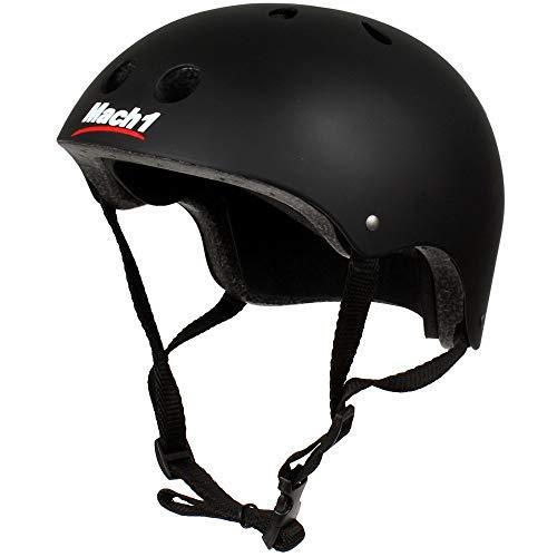 Mach1® Casco Skater Casco, Casco para bicicleta, BMX de casco, patines en línea de casco para Skater, Bremssattel Boli, negro mate