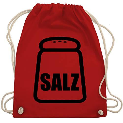 Shirtracer Karneval & Fasching - Salz Karneval Kostüm - Unisize - Rot - salz kostüm - WM110 - Turnbeutel und Stoffbeutel aus Baumwolle