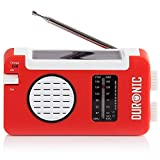 Duronic AM/FM Radio HYBRID | Charge 3 Ways: Solar Power, Wind Up, USB | Dynamo Crank Charging | Headphone Jack...