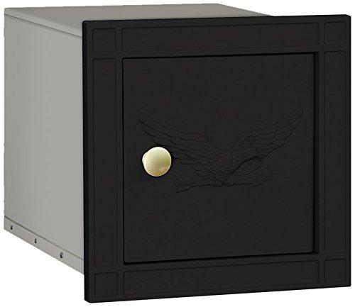 Salsbury Industries 4140E-BLK Cast Aluminum Column Non-Locking Eagle Door Mailbox, Black