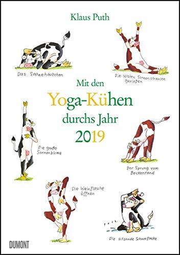 Mit den Yoga-Kühen durchs Jahr 2019 – Lustige Cartoons – Wandkalender - Format 29,5 x 42,0 cm