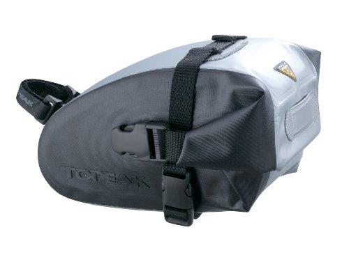 Topeak Wedge DryBag Sattel Tasche Fahrrad Wasserdicht QuickClick Reflektor Riemen Fixer, 15000412, Größe large, Montage mit Riemen