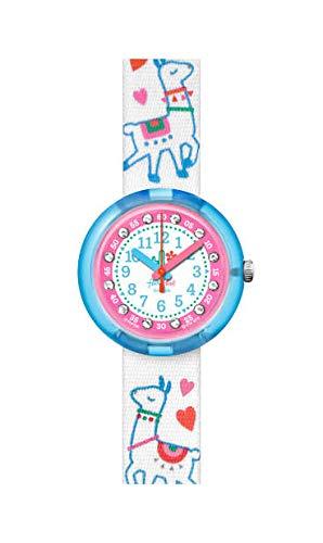 Flik Flak Mädchen Analog Quarz Uhr mit Kunststoff Armband FPNP055