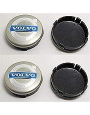 Set Van 4 Naafdoppen voor Volvo V40 V60 S60 S80 XC60 XC90 60mm, Waterdicht, Stofdicht, Roestvrij, Vervangende Wielnaafdoppen
