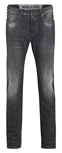 MAC Herren Jeans Ben Pipe 0370 Black Legend Used H886 (33/36)