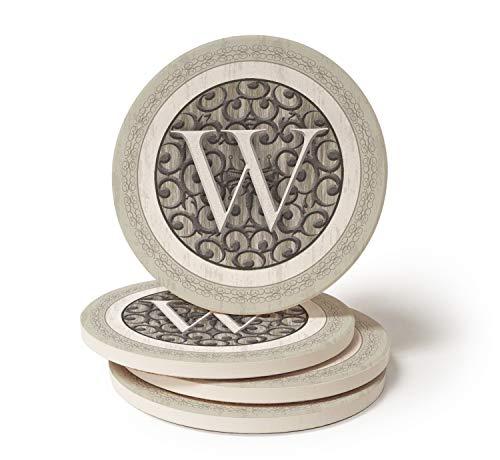 CoasterStone Monogram W Coasters
