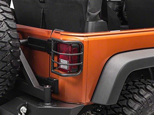 REDROCK 4x4 Wrap-Around Tail Light Guards; Textured Black for Jeep Wrangler JK 2018-2018