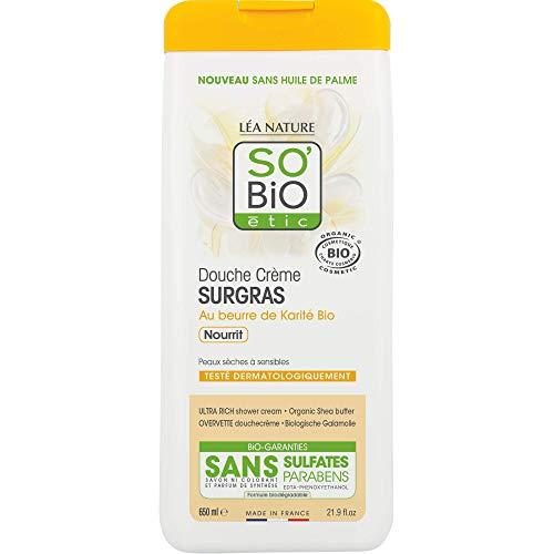 SO'BiO etic Douche Creme Surgras à l'Huile de Karite Bio 650 ml