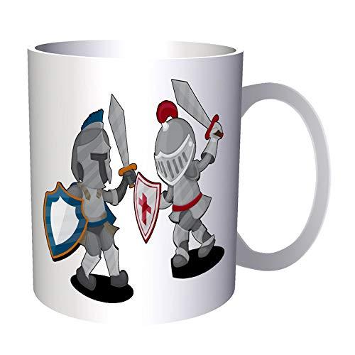 Armor Knights R881 - Taza de desayuno, diseño de caballeros