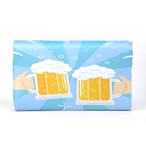 QiyI ToddlerPillowCover KidsMemoryFoamPillow Latex Pillow with Beer Drink Agreed Deal Cheers Cotton Pillowcase 17.3 X 9.9 X 2.3 in for Boys Girls 2-10 Years Old Children