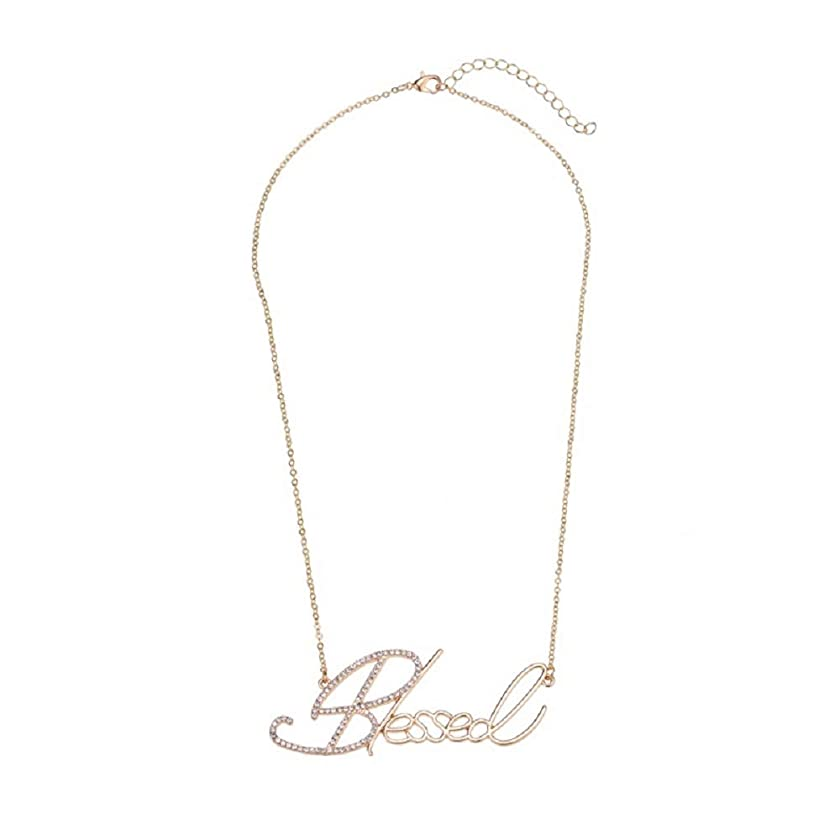 Aimys Blessed Letters Pendant Necklace Ladies Charm Necklace Popular Personality Design Beautiful Gift for Women