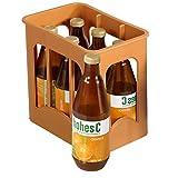 #11 Kaufladen-Zubehör HOHES C Getraenkekiste Saftflaschen 6 Flaschen, ca. 12cm für Kaufladen Einkaufsladen Kinderküche Spielküche Spielzeug Küche