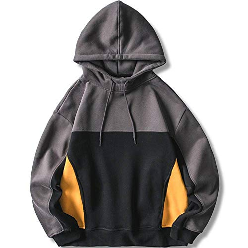 XIELH Color Block Patchwork Coltrui Fleece Hoodies Sweatshirts Mannen Harajuku Casual Pullover Hooded Tops Hip Hop Streetwear