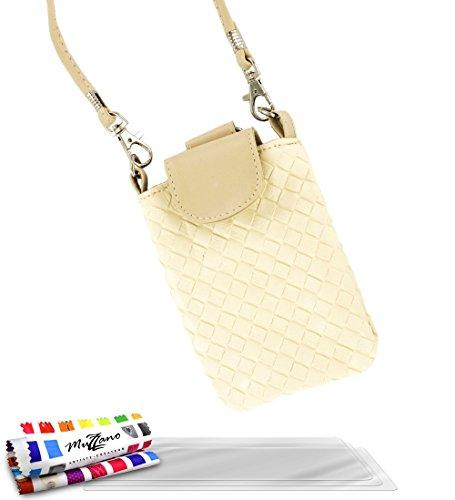 'Tasche Alcatel OT/6033[CityPoche Premium] [beige] von MUZZANO + 3Schutzfolien Set