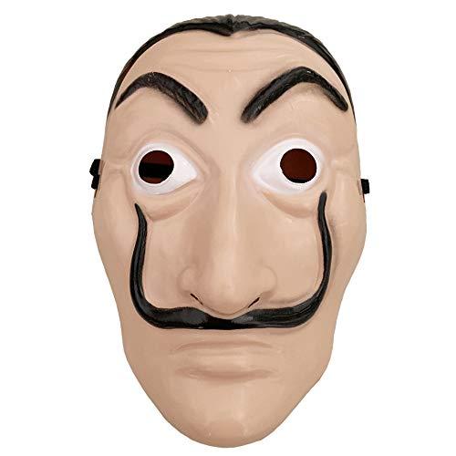 ZHANGXX Dali Kostüme La Casa De Papel Cosplay Kostüm Roter Hoodie Overall mit Dali Maske (The mask, One Size)