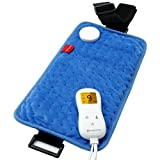 Wrapping Heating Pad for Pain Relief, Comfytemp 7'x 14' Mini Electric Heating Pad with Strap, 9 Heat Settings, 5 Auto-Off, Stay On, Moist Heated Therapy for Shoulder, Abdomen, Back, Leg, Arm, Knee