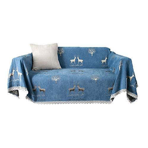 J&SKD Foulard Multiusos Sofa Throws Colcha Cama Y Funda Cubre Sofá Throw Arm Chair Covers Manta para Sofa,Protector De Muebles para Sala De Estar, Niños, Perros Y Mascotas,E,180x360cm(71x142inch)