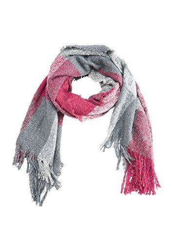 s.Oliver RED LABEL Damen Bouclé-Schal mit Karomuster pink check 1