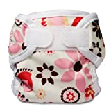 Image: Bummis Super Whisper Wrap Diaper Cover - Made from polyester with a PUL layer; Includes hook and loop closures