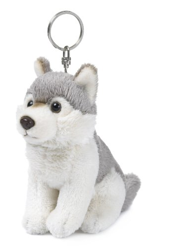 Mimex WWF00275 - Schlüsselring Plüsch-Wolf, 10 cm