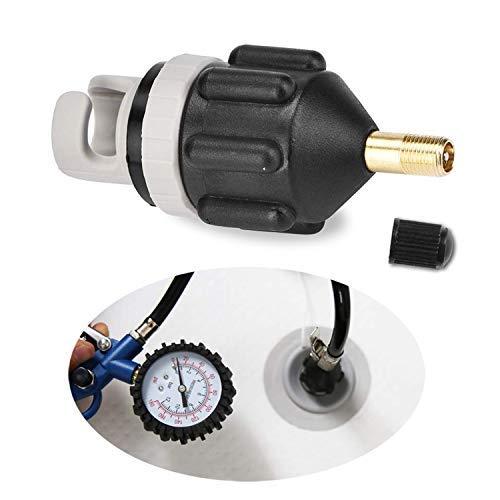 SAMENY Sup-Ventiladapter,Tragbare Aufblasbare Pumpe Adapter Boot Pumpe Adapter Luftventil Paddel Bord Zubehör Kanu Luftpumpe (Schwarz)