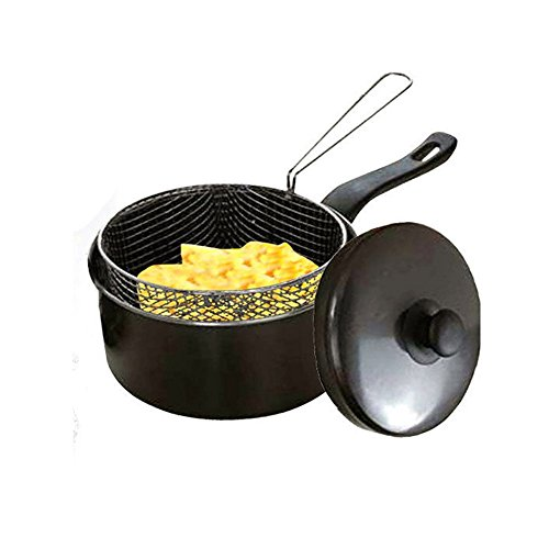 20cm Chip Pan with Lid & Wire Basket by Prima